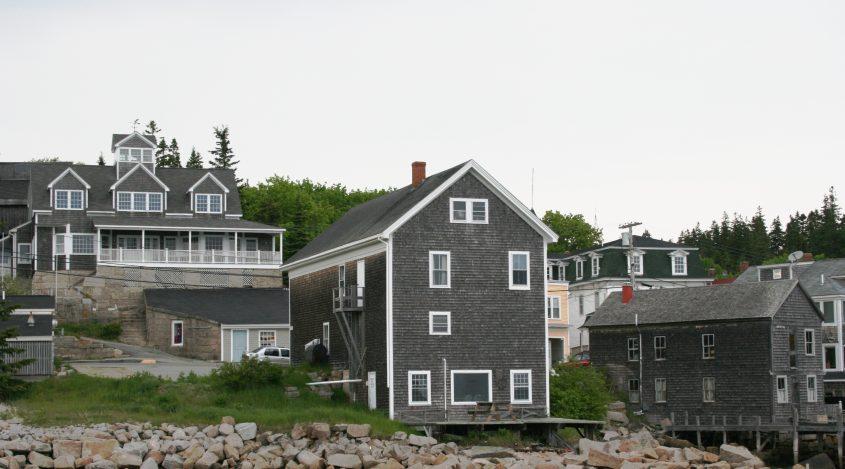 Häuser auf Deer Isle